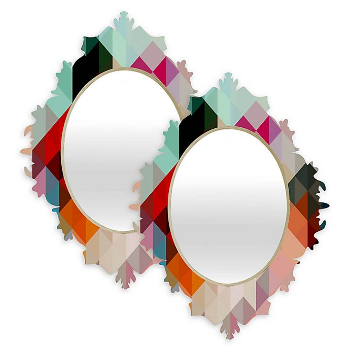Alternate image 1 for Deny Designs® Three of the Possessed Words Multicolor Oval Heavy Baroque Mirror