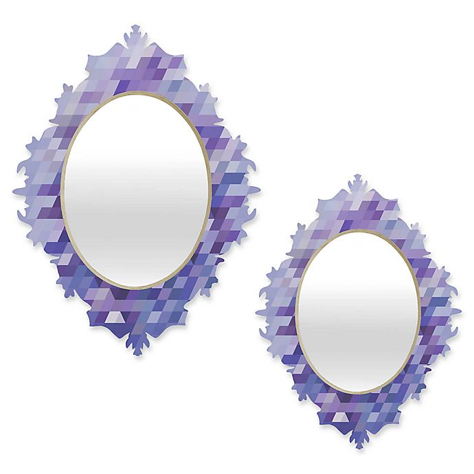 Alternate image 1 for Deny Designs® Deniz Ercelebi Oval Cluster Baroque Mirror in Lavender