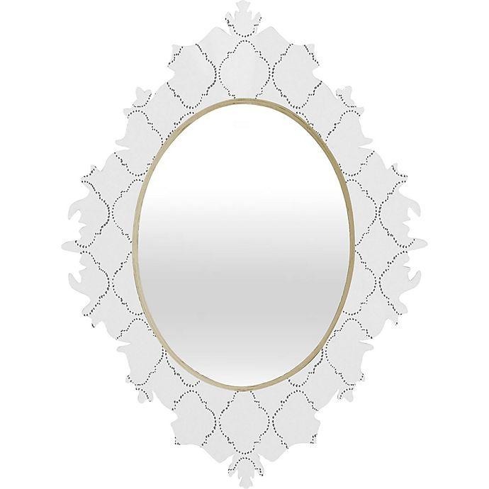 Alternate image 1 for Deny Designs® Hadley Hutton 29-Inch x 22-Inch Oval Baroque Mirror in Dotty Grey