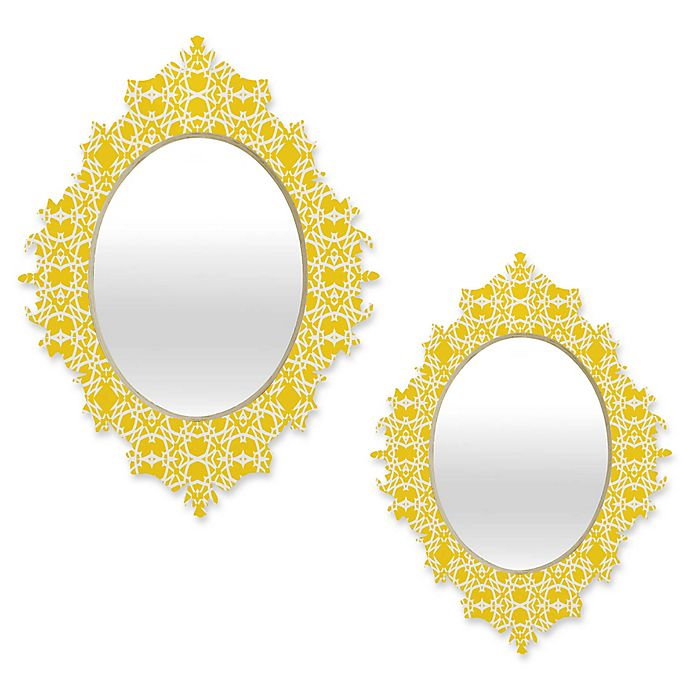Alternate image 1 for Deny Designs® Lisa Argyropoulos Oval Electric Baroque Mirror in Zest