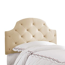 Skyline Low Arc Tufted Velvet Headboard in Buckwheat