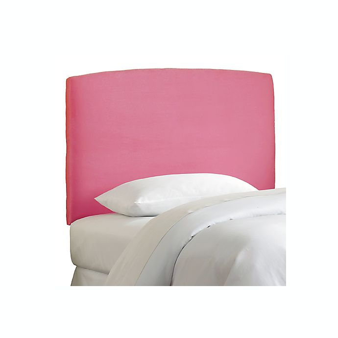 Alternate image 1 for Skyline Curved Microsuede Headboard in Hot Pink