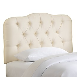 Skyline Tufted Shantung Headboard in Parchment