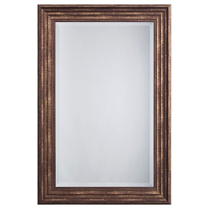 Alternate image 1 for Yosemite Home Decor Mint 36-Inch x 24-Inch Rectangular Montpelier Mirror in Espresso