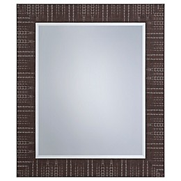 Yosemite Home Décor Lombardy 23-Inch x 27-Inch Textured Wall Mirror in Brown