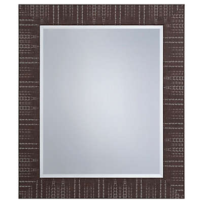 Yosemite Home Décor Lombardy Square Textured Mirror in Brown