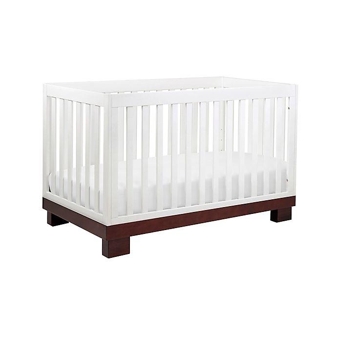 Alternate image 1 for Babyletto Modo 3-in-1 Convertible Crib in Espresso and White