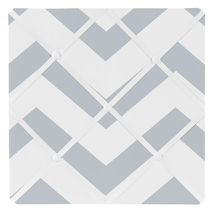 Sweet Jojo Designs Chevron Memo Board In Grey White Buybuy Baby