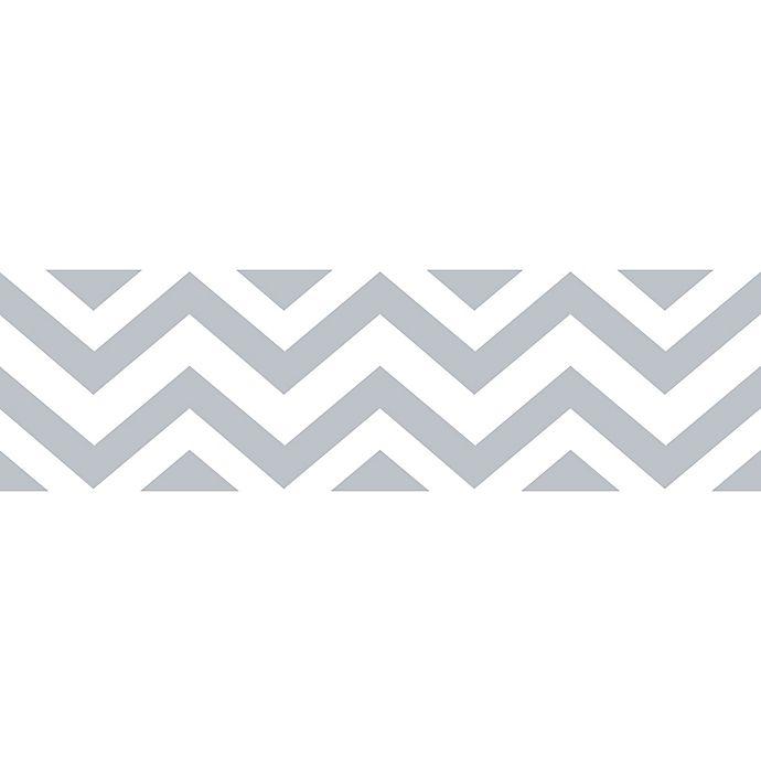 Sweet Jojo Designs Chevron Wallpaper Border In Grey White Buybuy Baby