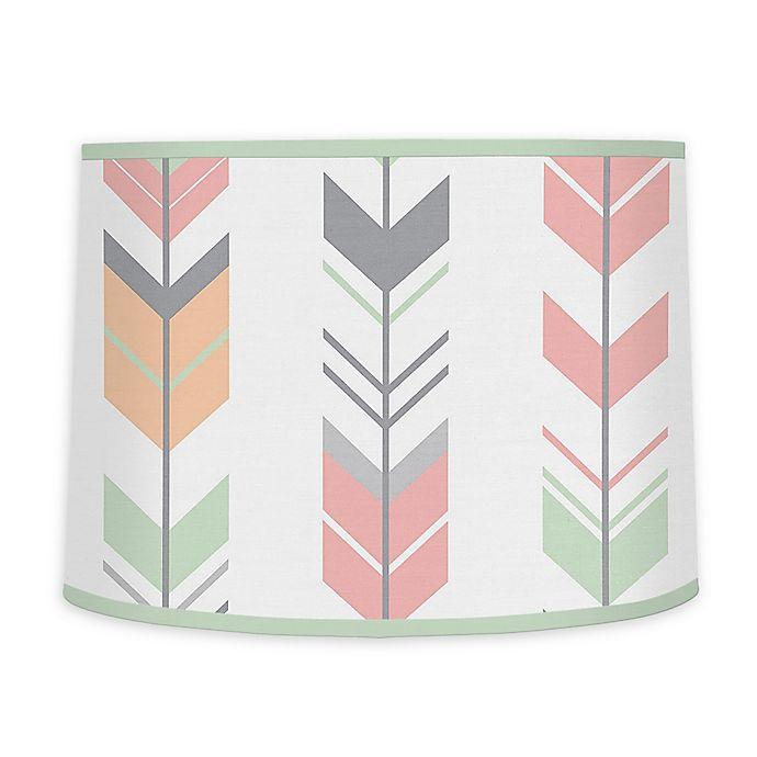 Alternate image 1 for Sweet Jojo Designs Mod Arrow Lamp Shade in Coral/Mint
