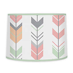 Sweet Jojo Designs Mod Arrow Lamp Shade in Coral/Mint