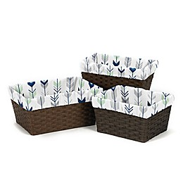 Sweet Jojo Designs® Mod Arrow Basket Liners in Grey/Mint (Set of 3)