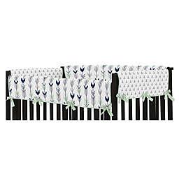 Sweet Jojo Designs® Mod Arrow Long Rail Guard in Navy/Mint