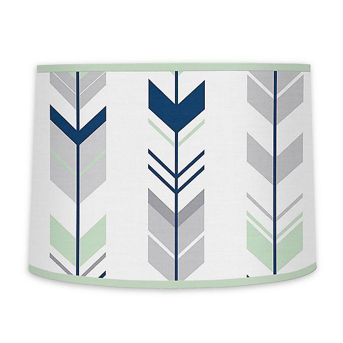 Alternate image 1 for Sweet Jojo Designs® Mod Arrow Lamp Shade in Grey/Mint