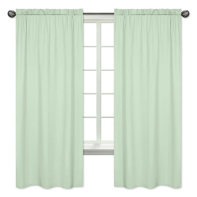 Alternate image 1 for Sweet Jojo Designs 84-Inch Window Panels in Mint (Set of 2)