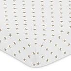 Sweet Jojo Designs Celestial Star Print Fitted Crib Sheet in Gold