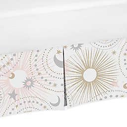 Sweet Jojo Designs Celestial Crib Skirt in Pink