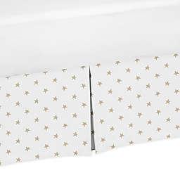 Sweet Jojo Designs Celestial Star Print Crib Skirt in Gold