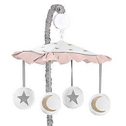 Sweet Jojo Designs Celestial Musical Mobile in Pink/Gold