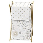 Sweet Jojo Designs Celestial Laundry Hamper in Pink/Gold
