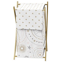 Sweet Jojo Designs Celestial Laundry Hamper in Pink/Gold
