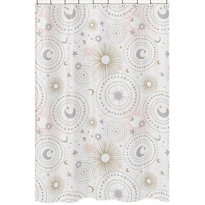 Sweet Jojo Designs Celestial Shower Curtain In Pink Gold View A Larger Version Of This Product Image