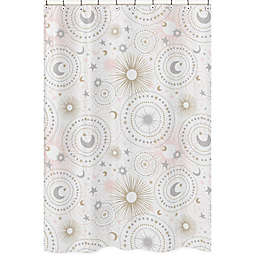 Sweet Jojo Designs Celestial Shower Curtain In Pink Gold