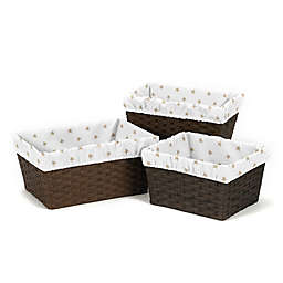 Sweet Jojo Designs Celestial Basket Liners in Gold (Set of 3)