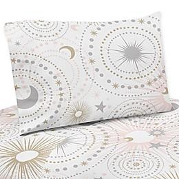 Sweet Jojo Designs Celestial Sheet Set in Pink/Gold