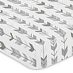 Sweet Jojo Designs Mod Arrow Print Fitted Crib Sheet in Grey