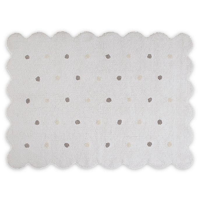Alternate image 1 for Lorena Canals Biscuit 4' x 5'3 Area Rug in White