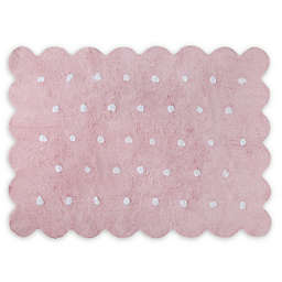 Lorena Canals Biscuit 4' x 5'3 Area Rug in Pink