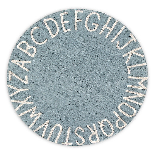 Alternate image 1 for Lorena Canals Vintage ABC 5' Round Washable Area Rug in Blue/Natural