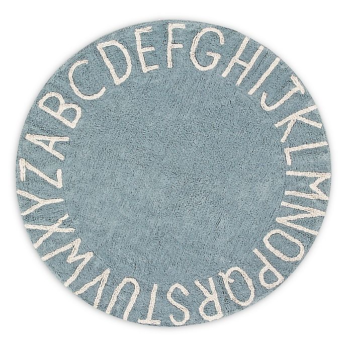 Alternate image 1 for Lorena Canals Vintage ABC 5' Round Area Rug in Blue/Natural