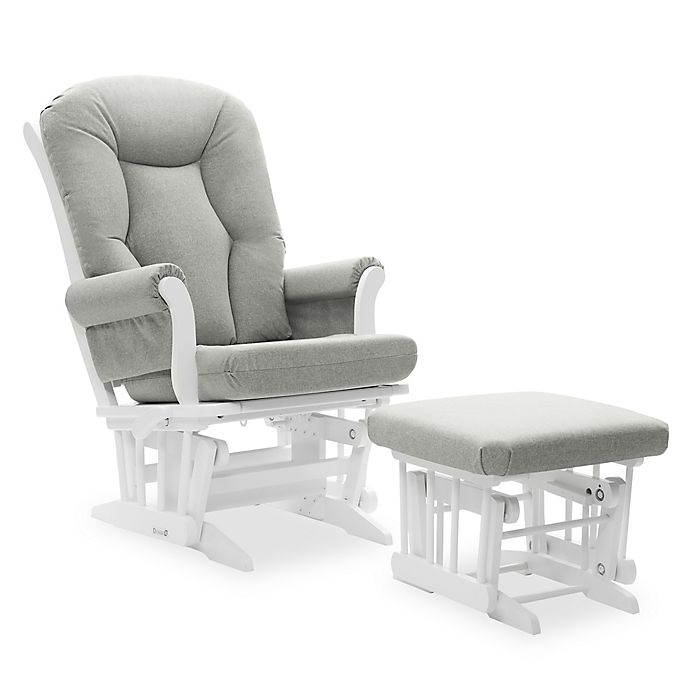 Dutailier Victoria Reclining Glider And Ottoman In Grey White Buybuy Baby