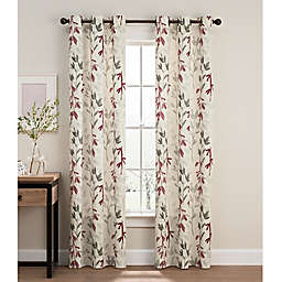 Caprice Grommet Window Curtain Panel Pair