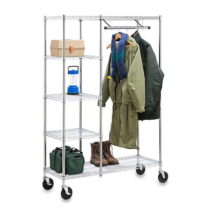 Alternate image 1 for Honey-Can-Do® Heavy Duty Urban Valet Closet Storage System