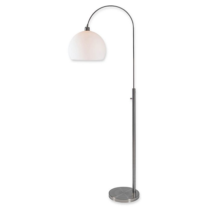 Alternate image 1 for Kenroy Home Gateway Arc Floor Lamp in Brushed Steel