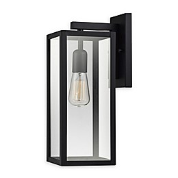 Globe Electric Hurley Wall-Mount Outdoor Light in Matte Black