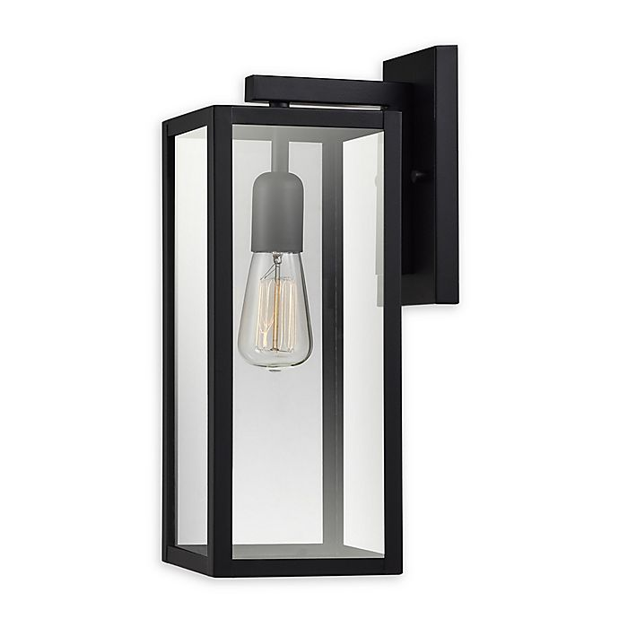 Alternate image 1 for Globe Electric Hurley Wall-Mount Outdoor Light in Matte Black