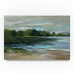 Trademark Fine Art Lake Afternoon Still Canvas Wall Art