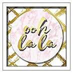 """Ooh La La"" 10-Inch Square Shadowbox Wall Art"