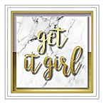"""""""Get it Girl"""" 10-Inch Square Shadowbox Wall Art"""