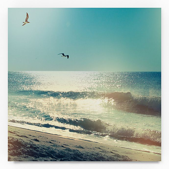 Alternate image 1 for Trademark Fine Art Coastline Waves, No Words 18-Inch Square Canvas Wall Art