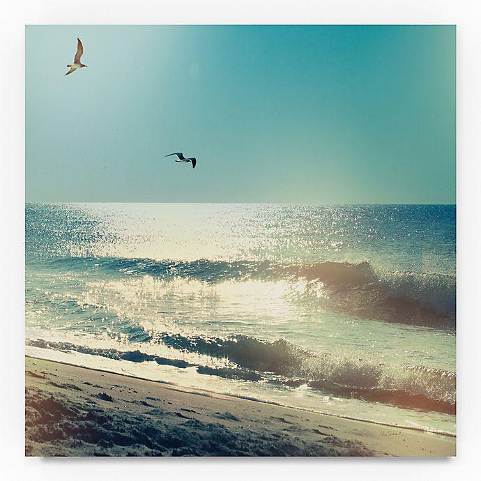 Alternate image 1 for Trademark Fine Art Coastline Waves, No Words 35-Inch Square Canvas Wall Art