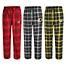 Part of the NFL Men's Flannel Plaid Pajama Pant with Left Leg Team Logo Collection