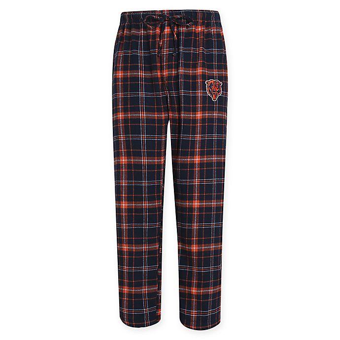 d425391e NFL Chicago Bears Men's Flannel Plaid Pajama Pant with Left Leg Team ...