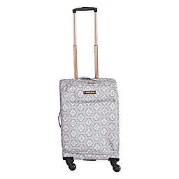 Jenni Chan Aria Snow Flake 20-Inch Spinner Carry On Luggage
