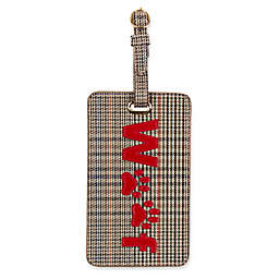LOLO Woof Luggage Tag in Plaid