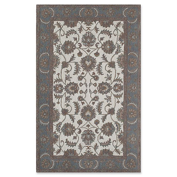 Alternate image 1 for Rugs America New Dynasty 2' x 4' Accent Rug in Ivory/Light Blue